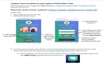 Langkah Awal Penggunaan Aplikasi PPDB Sumut